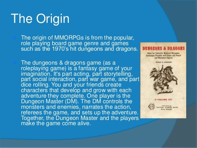 history of mmorpgs A massively multiplayer online role-playing game (mmorpg) is a video game  that takes place in a persistent state world (psw) with thousands, or even  millions.