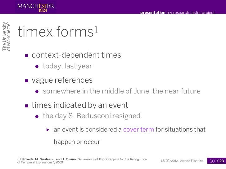 presentation my research taster projecttimex                     forms1       ■ context-dependent times            ●    to...