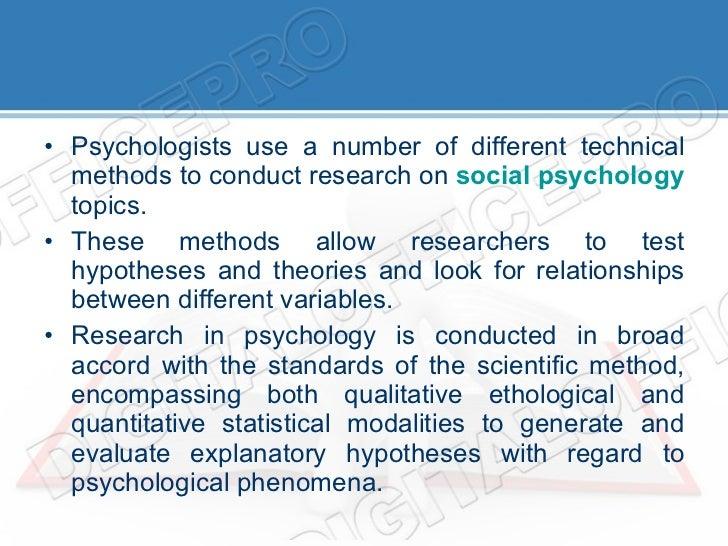 social psych topics