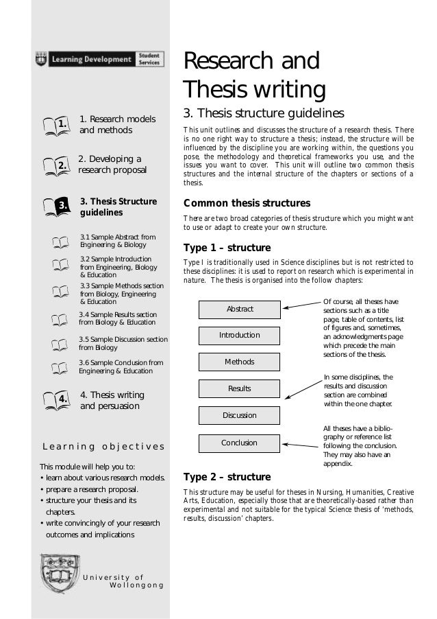 Writing thesis proposal masters