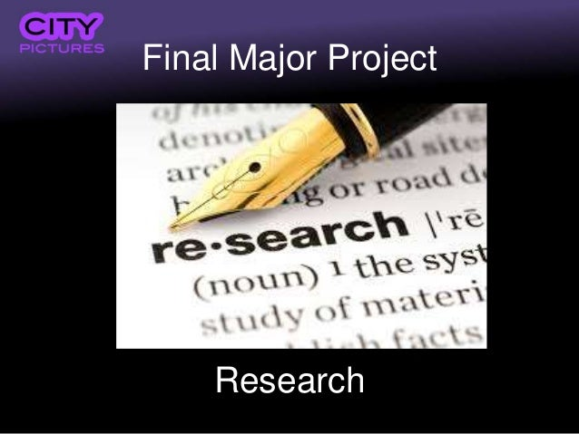 Final Major Project Research