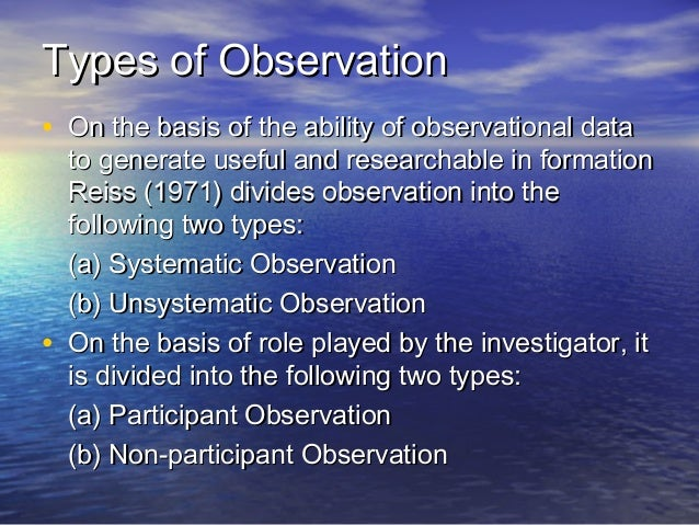 unsystematic observation Chapter 3 -‐ getting ideas for research theory of reasoned action sources of research ideas -‐your everyday experience and observations of what goes on around you is a rich source of research ideas some of these observations may be unsystematic and informal • experience –unsystematic observation.