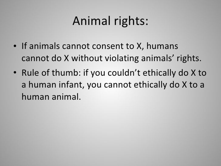 discussing animal rights and animal research Discussion seminar for teaching animal ethics/law to students who use isolated  tissues  use and abuse of animals in scientific research.