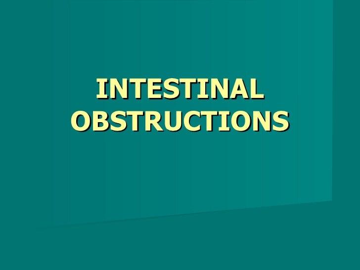 INTESTINAL OBSTRUCTIONS