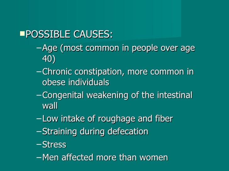 <ul><li>POSSIBLE CAUSES: </li></ul><ul><ul><li>Age (most common in people over age 40) </li></ul></ul><ul><ul><li>Chronic ...