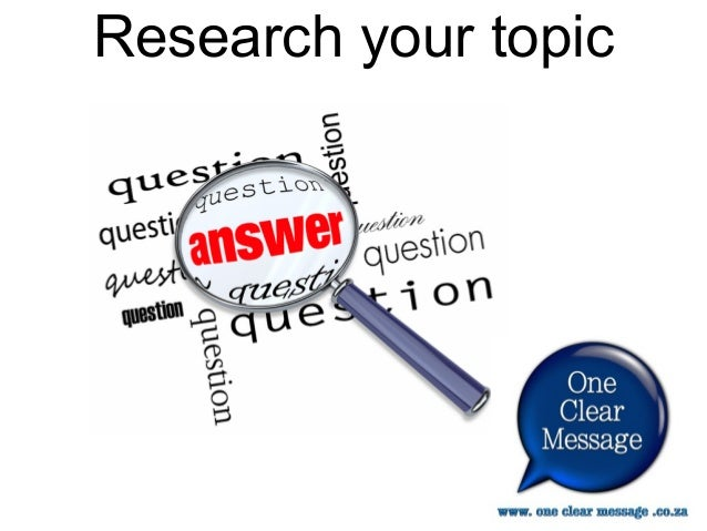 researching your topic for presentations create a handout reference 9 research your topic
