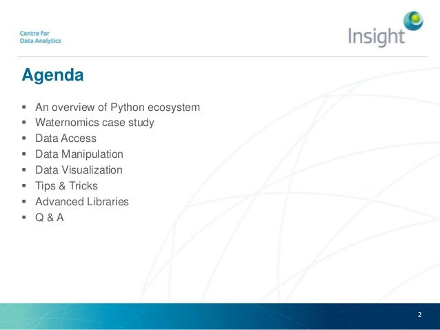 Researh toolbox - Data analysis with python