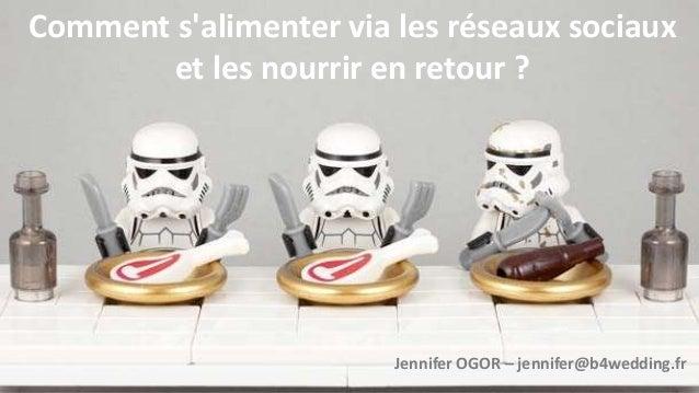 Comment s'alimenter via les réseaux sociaux et les nourrir en retour ? Jennifer OGOR – jennifer@b4wedding.fr