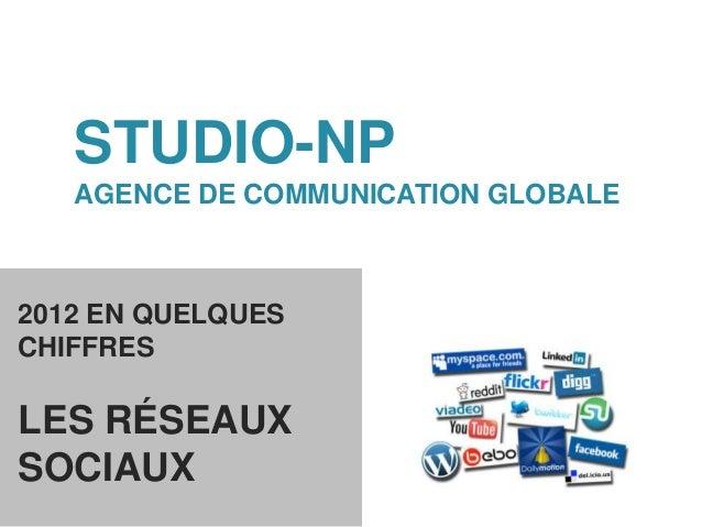 STUDIO-NP   AGENCE DE COMMUNICATION GLOBALE2012 EN QUELQUESCHIFFRESLES RÉSEAUXSOCIAUX