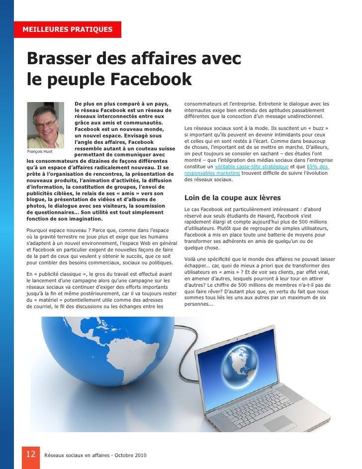 MEILLEURES PRATIQUES    Brasser des affaires avec le peuple Facebook                    De plus en plus comparé à un pays,...