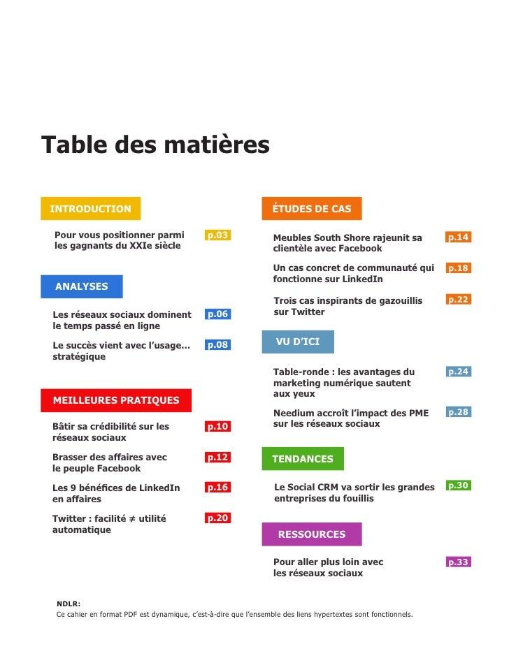 Table des matières  INTRODUCTION                                                     ÉTUDES DE CAS   Pour vous positionner...