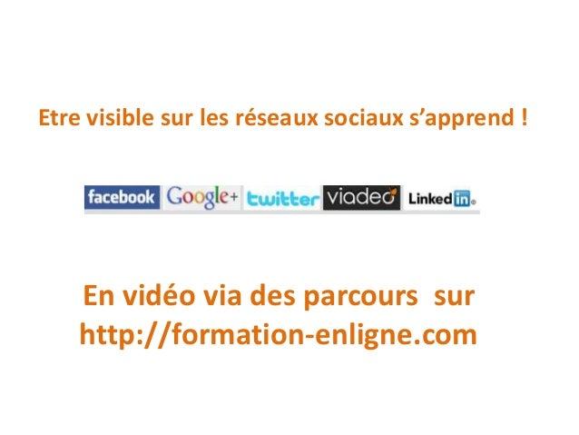 Apprenez les réseaux sociaux en vidéo Slide 2