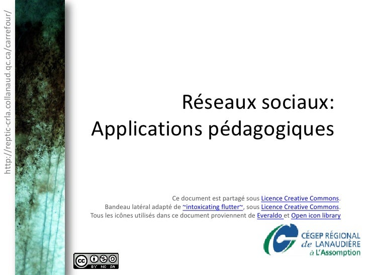 http://reptic-crla.collanaud.qc.ca/carrefour/                                                          Réseaux sociaux:   ...