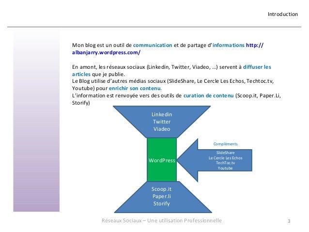 Réseaux Sociaux 3 - Retour d'expérience sur une utilisation professionnelle - Formation donnée en mai 2013 chez OASYS Slide 3