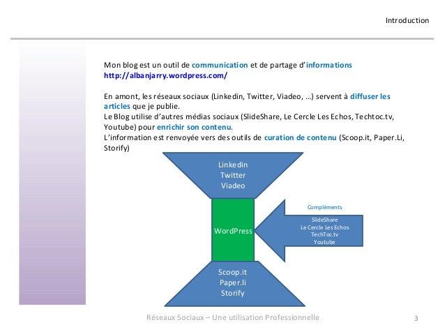 Réseaux Sociaux 4 - Retour d'expérience sur une utilisation professionnelle - Formation donnée en juin 2013 chez OASYS Slide 3