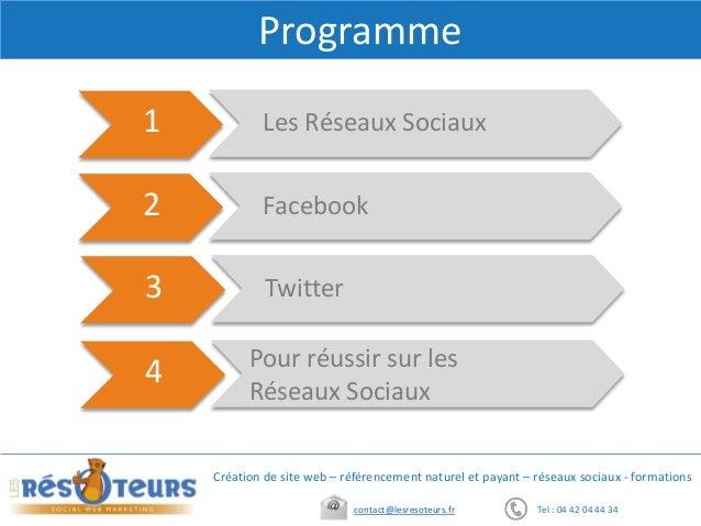 Réseaux sociaux  Slide 3