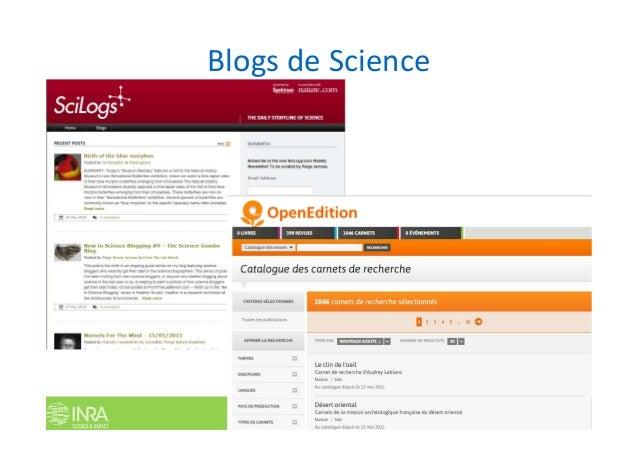 Blogs de Science Les réseaux sociaux numériques en recherche. P. Aventurier Univ. Louvain. 2 juin 2016