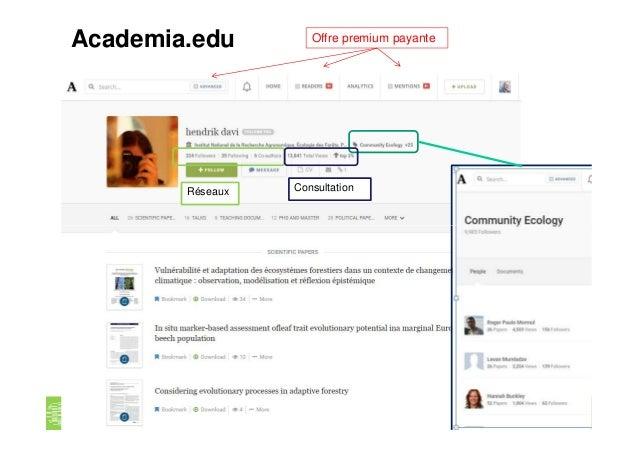 Offre premium payanteAcademia.edu Réseaux Consultation Les réseaux sociaux numériques en recherche. P. Aventurier Univ. Lo...