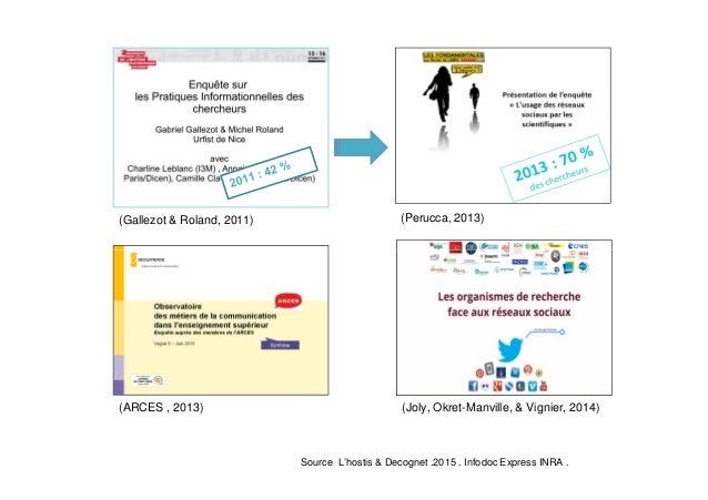 (Gallezot & Roland, 2011) (Perucca, 2013) (Joly, Okret-Manville, & Vignier, 2014)(ARCES , 2013) Source L'hostis & Decognet...