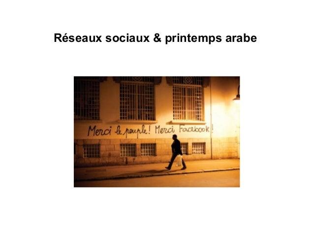 Réseaux sociaux & printemps arabe