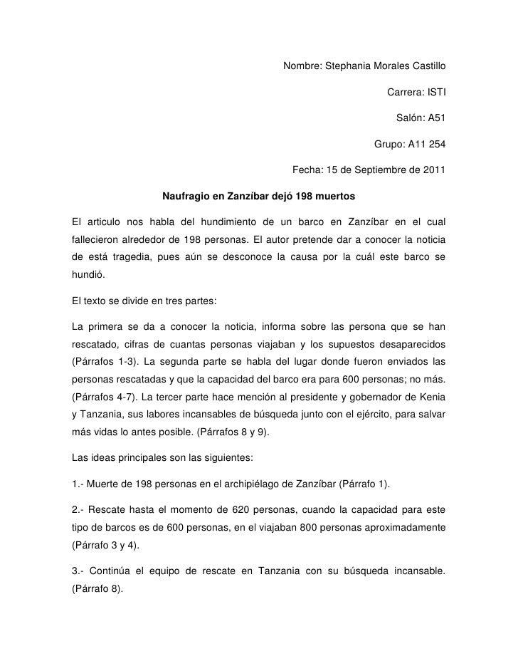 Nombre: Stephania Morales Castillo<br />Carrera: ISTI<br />Salón: A51<br />Grupo: A11 254<br />Fecha: 15 de Septiembre de ...