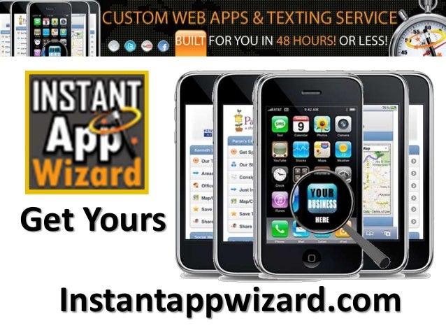 Get Yours Instantappwizard.com