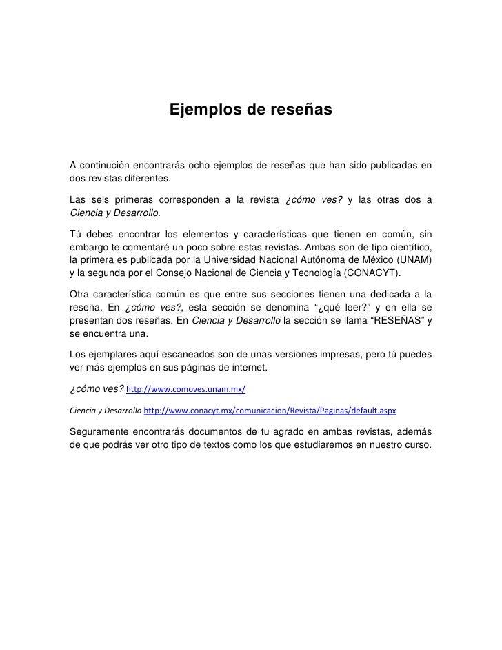 Como Hacer Una Reseña Literaria Ejemplos Colección De Ejemplo