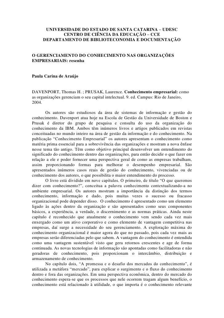 UNIVERSIDADE DO ESTADO DE SANTA CATARINA – UDESC             CENTRO DE CIÊNCIA DA EDUCAÇÃO – CCE      DEPARTAMENTO DE BIBL...