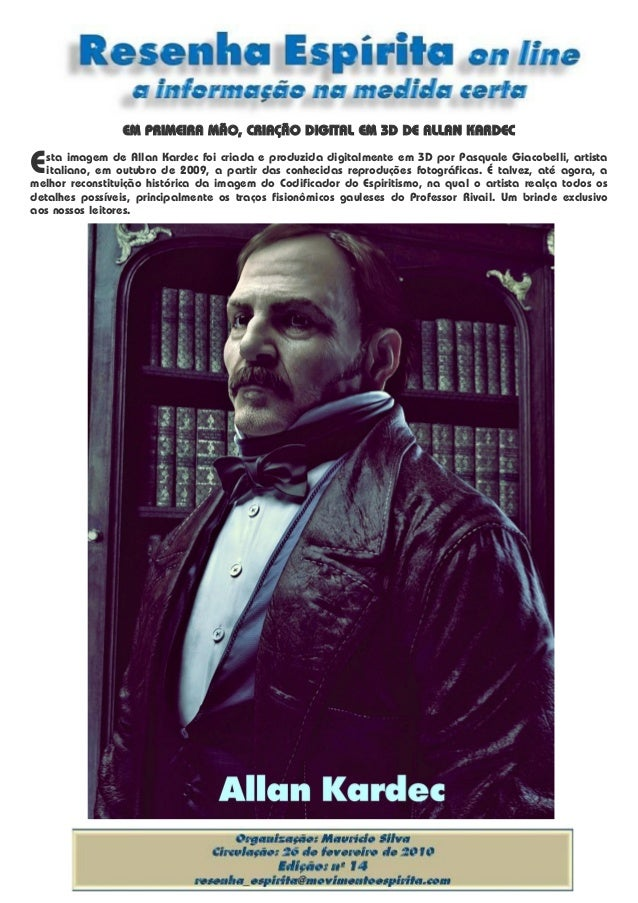 EM PRIMEIRA MÃO, CRIAÇÃO DIGITAL EM 3D DE ALLAN KARDEC sta imagem de Allan Kardec foi criada e produzida digitalmente em 3...