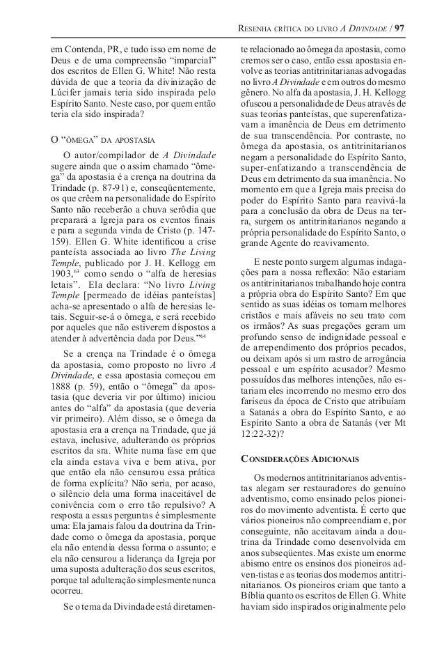 """Resenha crítica do livro A Divindade / 97 em Contenda, PR, e tudo isso em nome de Deus e de uma compreensão """"imparcial"""" do..."""