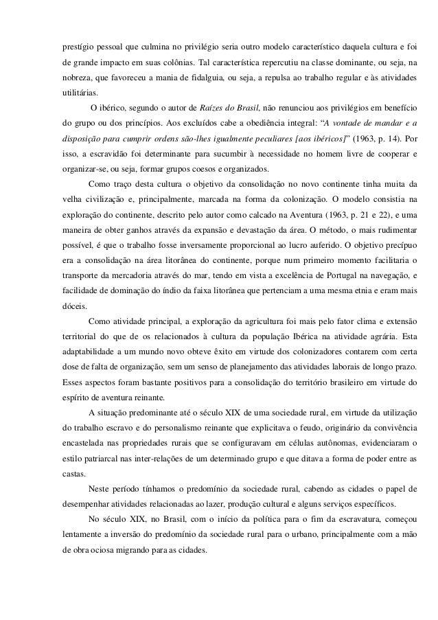 Resenha critica do livro raizes do brasil Slide 2