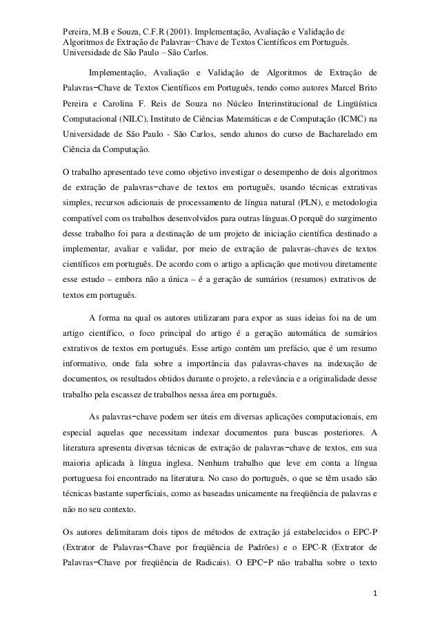 Artigos cientificos em espanhol