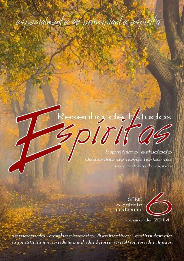 especialmente ao principiante espírita  E  spíritas  Resenha de Estudos  Espiritismo estudado  descortinando novos horizon...