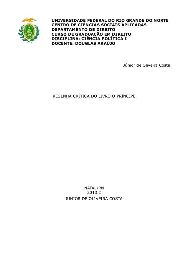 UNIVERSIDADE FEDERAL DO RIO GRANDE DO NORTE CENTRO DE CIÊNCIAS SOCIAIS APLICADAS DEPARTAMENTO DE DIREITO CURSO DE GRADUAÇÃ...