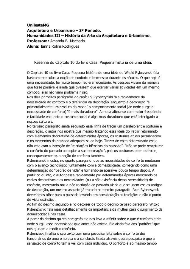 UnilesteMGArquitetura e Urbanismo – 3º Período.Humanidades III – História da Arte da Arquitetura e Urbanismo.Professora: A...