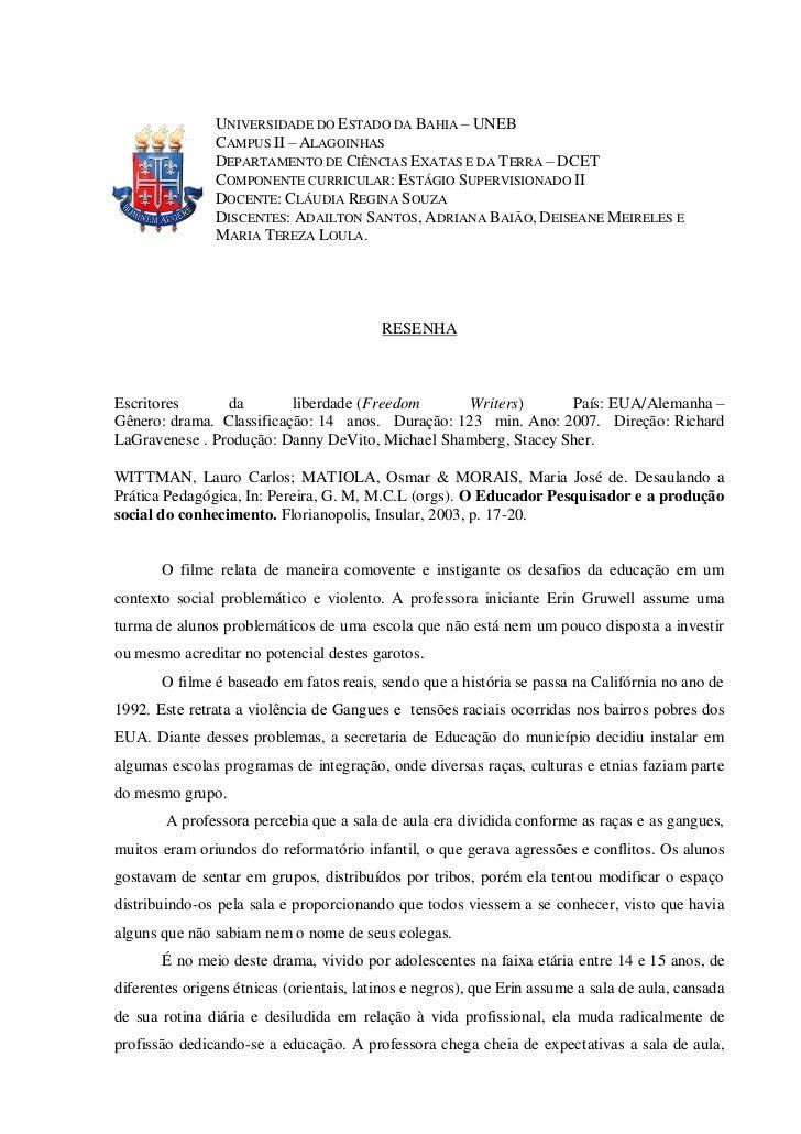 UNIVERSIDADE DO ESTADO DA BAHIA – UNEB                CAMPUS II – ALAGOINHAS                DEPARTAMENTO DE CIÊNCIAS EXATA...
