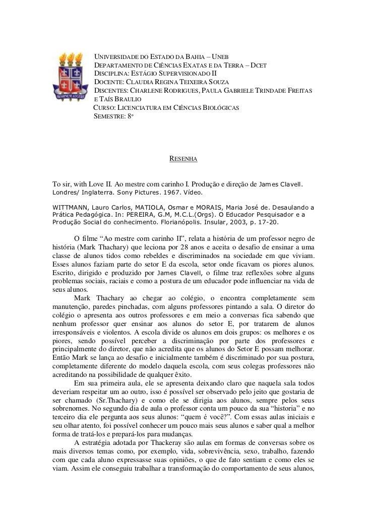 UNIVERSIDADE DO ESTADO DA BAHIA – UNEB             DEPARTAMENTO DE CIÊNCIAS EXATAS E DA TERRA – DCET             DISCIPLIN...