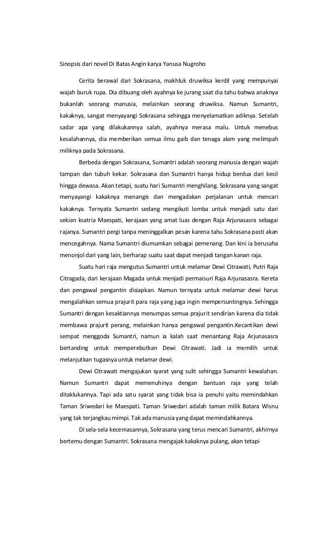 Contoh Sinopsis Novel Untuk Dikirim Ke Penerbit Kumpulan Contoh Makalah Doc Lengkap