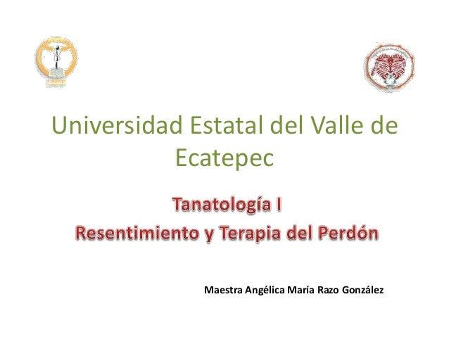Universidad Estatal del Valle de Ecatepec Maestra Angélica María Razo González