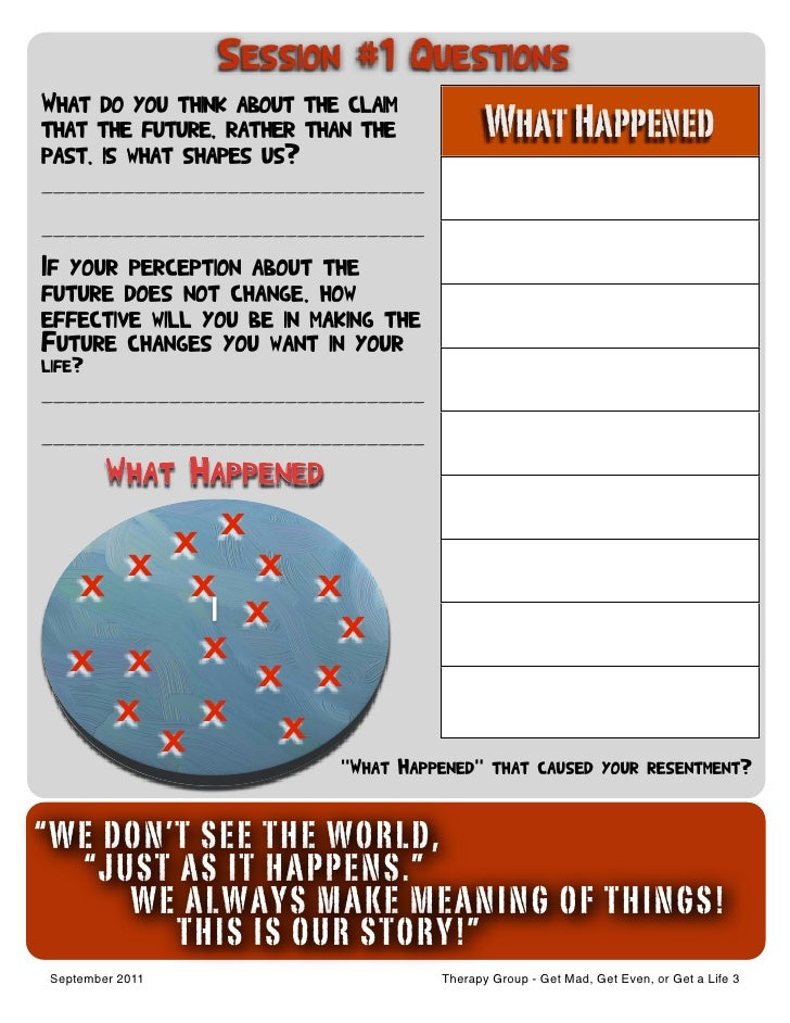 Printable Worksheets resentments worksheets : Resentment Group Manual