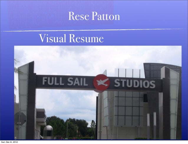 Rese Patton                   Visual ResumeSat, Dec 8, 2012