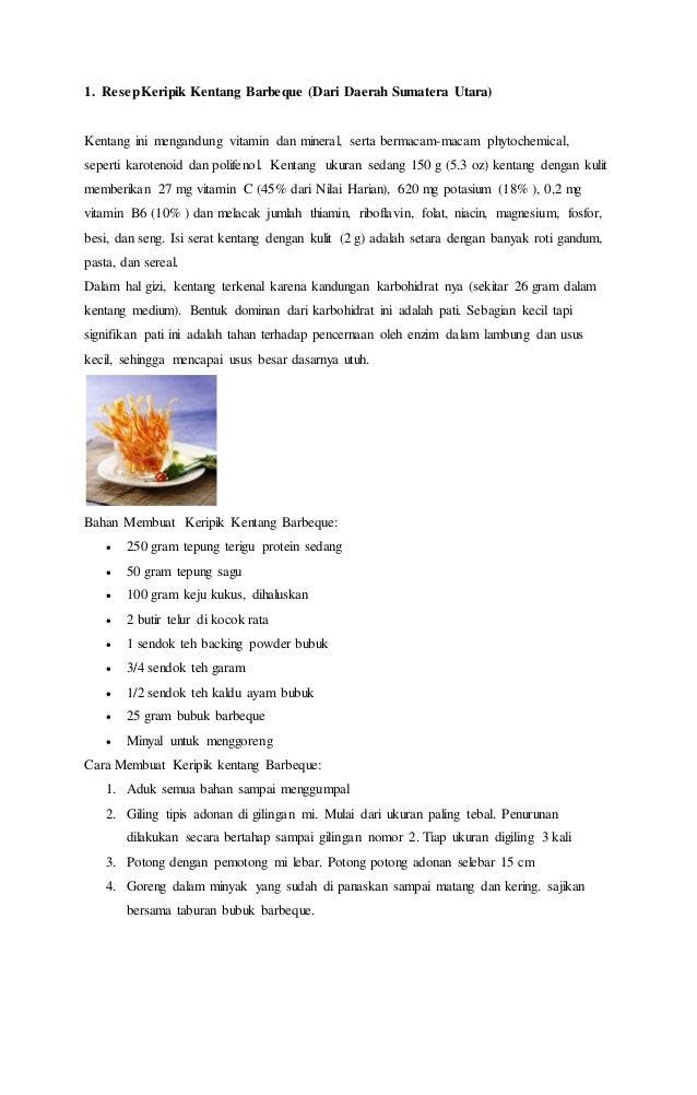 Resep Makanan Serelia