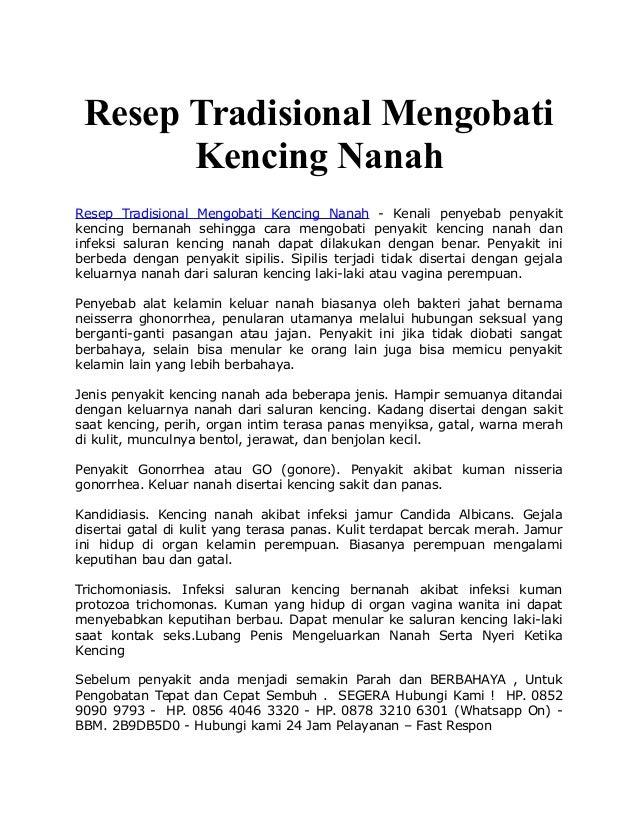 Resep Tradisional Mengobati Kencing Nanah Resep Tradisional Mengobati Kencing Nanah - Kenali penyebab penyakit kencing ber...