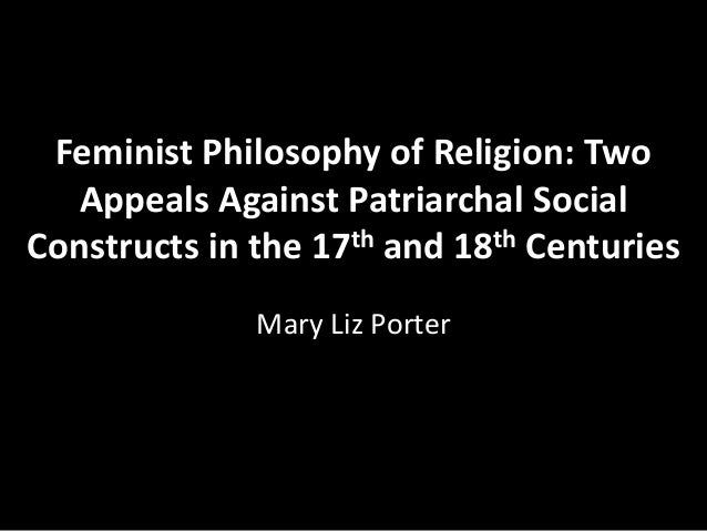 religious views of the feminists Esteem and patriarchal and feminist attitudes of protestant women seminarians  and lay women regarding selected biblical passages and christian theological.