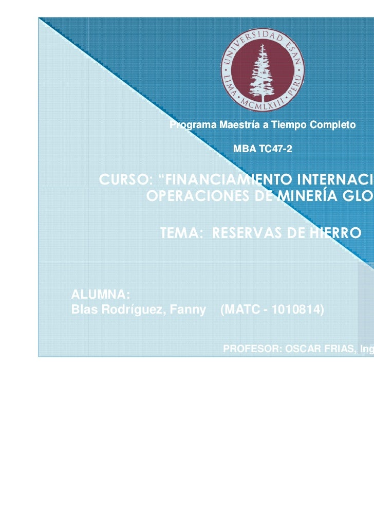 """Programa Maestría a Tiempo Completo                          MBA TC47-2                              TC47-    CURSO: """"FINA..."""