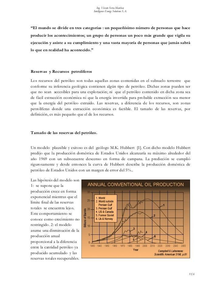 "Ing. Vicente Serra Marchese                                     Intelligence Energy Solutions S.A.""El mundo se divide en t..."