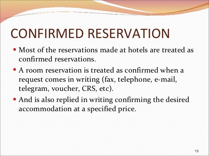 Reservation confirmed reservation spiritdancerdesigns Choice Image