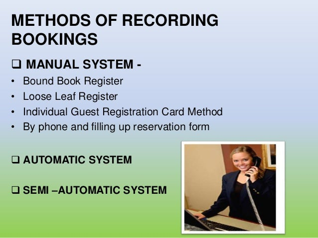 hotel reservation rh slideshare net Hotel Front Desk Reservation Agent Responsibilities