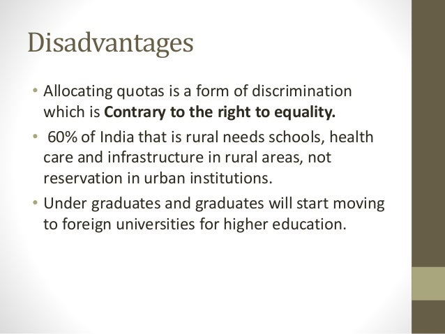 essay on quota system in india The question of a women's quota in india is distinct from any other within the political system published on the uk essays website then.