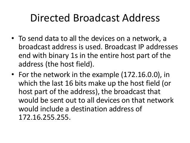 Reserved ip addresses
